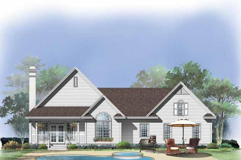 Country Exterior - Rear Elevation Plan #929-475 - Houseplans.com