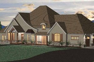 European Exterior - Front Elevation Plan #937-15