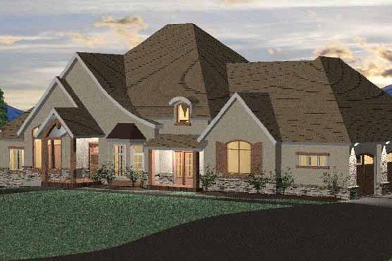 Architectural House Design - European Exterior - Front Elevation Plan #937-15