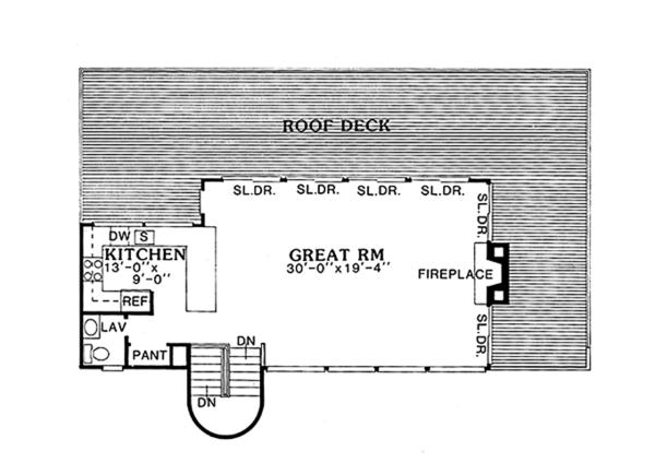 Contemporary Floor Plan - Upper Floor Plan Plan #314-280