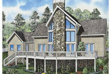 Contemporary Exterior - Front Elevation Plan #17-3130