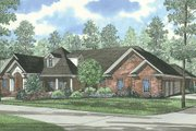 Traditional Style House Plan - 5 Beds 4.5 Baths 5724 Sq/Ft Plan #17-1027 Exterior - Front Elevation