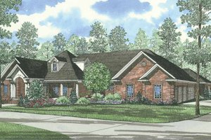 Traditional Exterior - Front Elevation Plan #17-1027