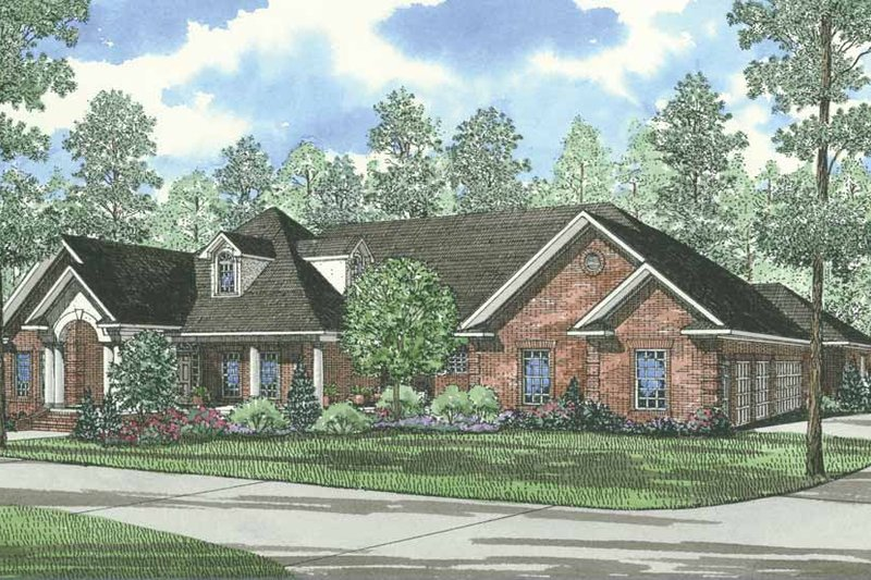 Dream House Plan - Traditional Exterior - Front Elevation Plan #17-1027