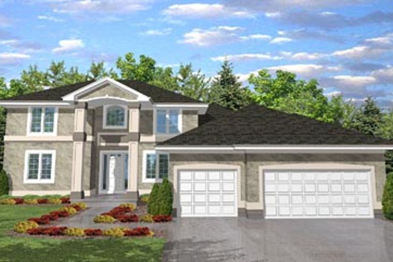 House Plan - 4 Beds 2 Baths 3114 Sq/Ft Plan #50-112 Exterior - Front Elevation