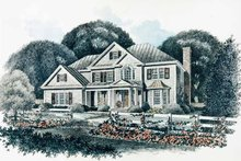 Dream House Plan - Colonial Exterior - Front Elevation Plan #429-91