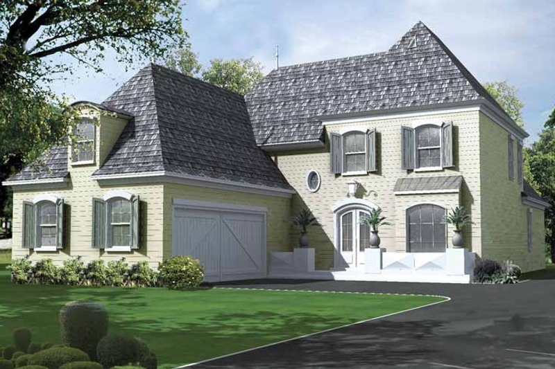 Architectural House Design - Country Exterior - Front Elevation Plan #15-382
