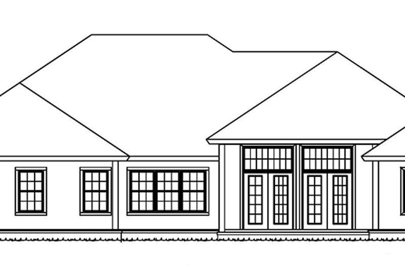 Ranch Exterior - Rear Elevation Plan #513-2159 - Houseplans.com