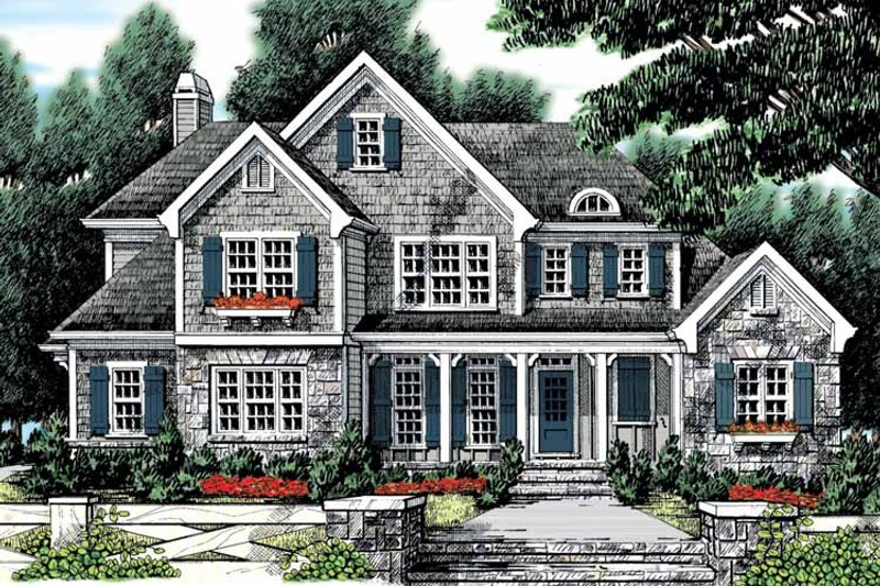 Country Exterior - Front Elevation Plan #927-883 - Houseplans.com