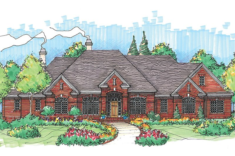 European Exterior - Front Elevation Plan #929-496