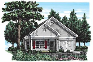Bungalow Exterior - Front Elevation Plan #927-290