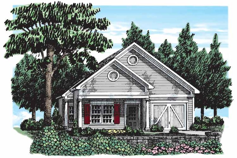 Bungalow Style House Plan - 2 Beds 2 Baths 1393 Sq/Ft Plan #927-290 Exterior - Front Elevation