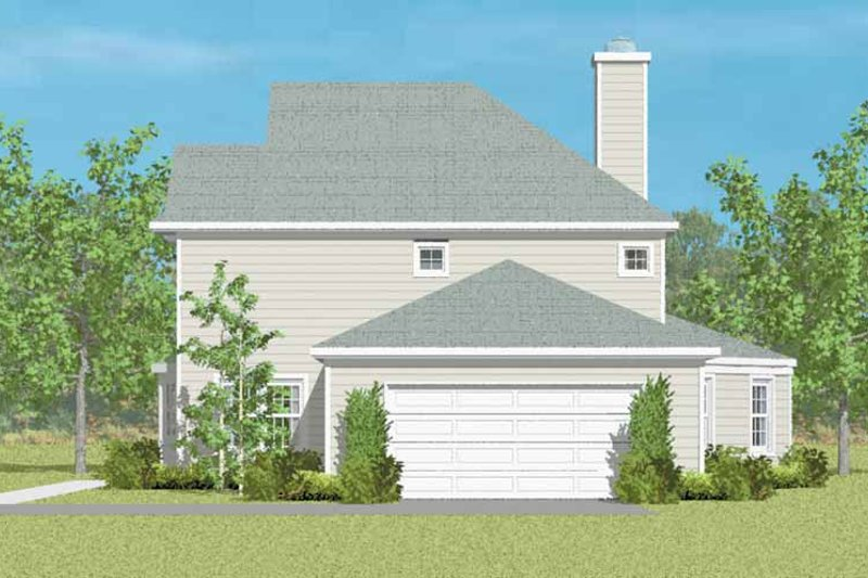 House Blueprint - Country Exterior - Other Elevation Plan #72-1092