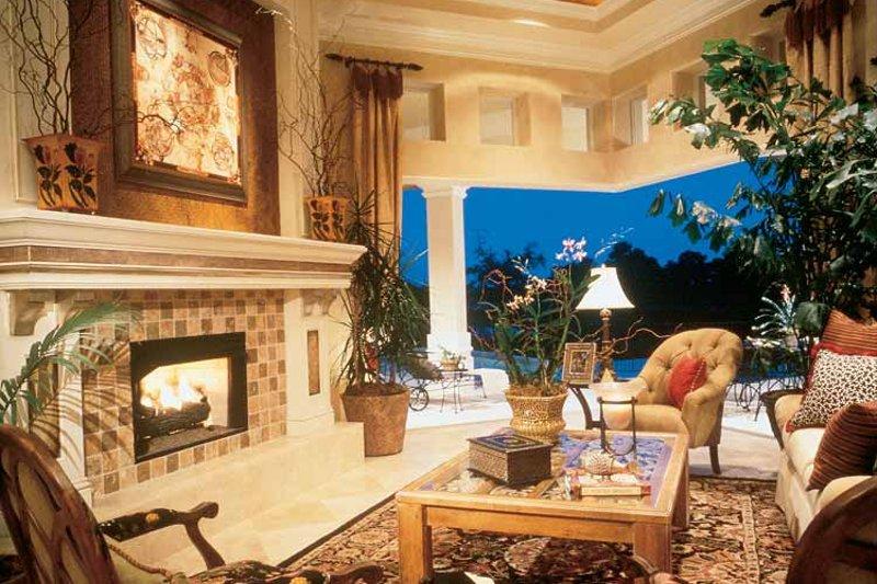 Mediterranean Interior - Family Room Plan #930-190 - Houseplans.com