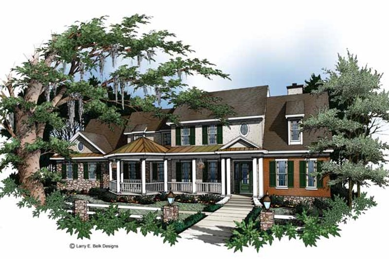 Country Exterior - Front Elevation Plan #952-250