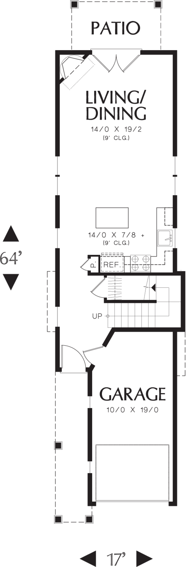 Dream House Plan - Cottage Floor Plan - Main Floor Plan #48-570