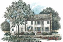Home Plan - Colonial Exterior - Rear Elevation Plan #429-89
