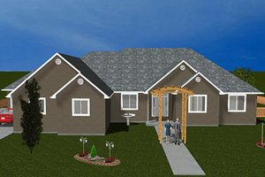 Ranch Exterior - Front Elevation Plan #1060-26