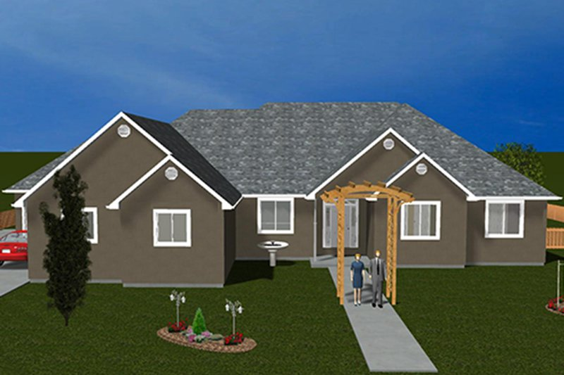 Architectural House Design - Ranch Exterior - Front Elevation Plan #1060-26