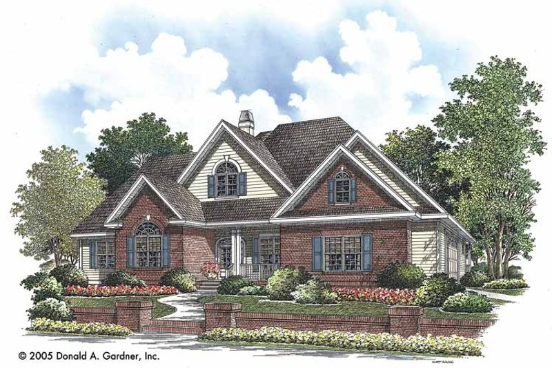 Ranch Exterior - Front Elevation Plan #929-726 - Houseplans.com