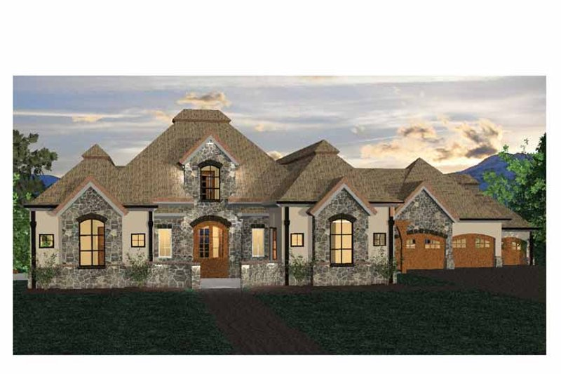 Country Exterior - Front Elevation Plan #937-6 - Houseplans.com