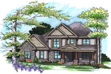 House Plan Design - Traditional Exterior - Front Elevation Plan #70-1038
