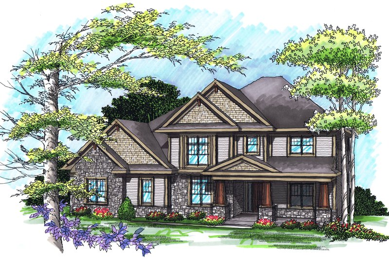 Traditional Exterior - Front Elevation Plan #70-1038