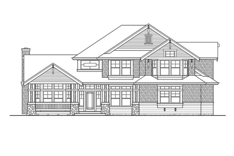 Craftsman Exterior - Front Elevation Plan #132-406 - Houseplans.com