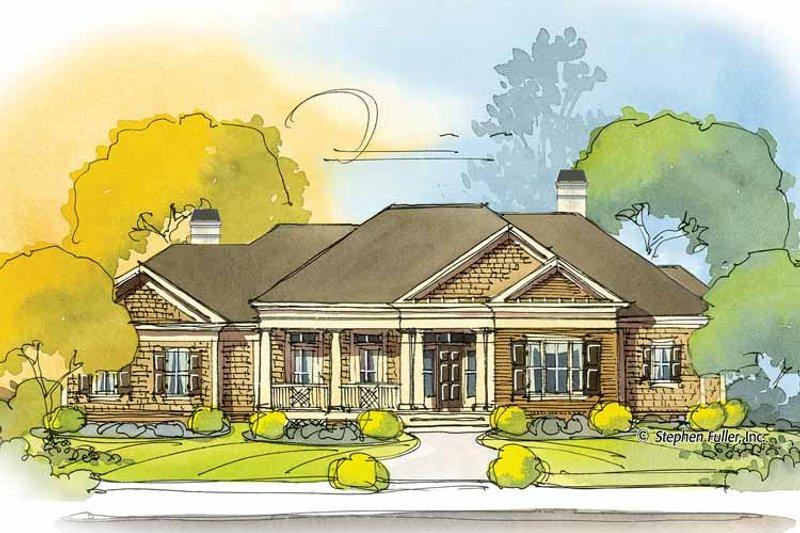 Colonial Exterior - Front Elevation Plan #429-393 - Houseplans.com