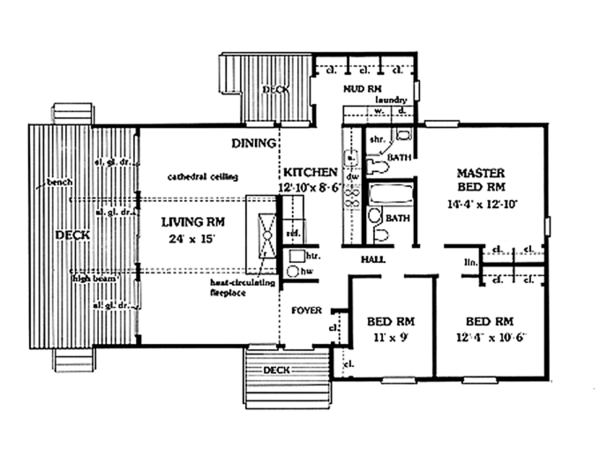 Contemporary Floor Plan - Main Floor Plan Plan #314-269