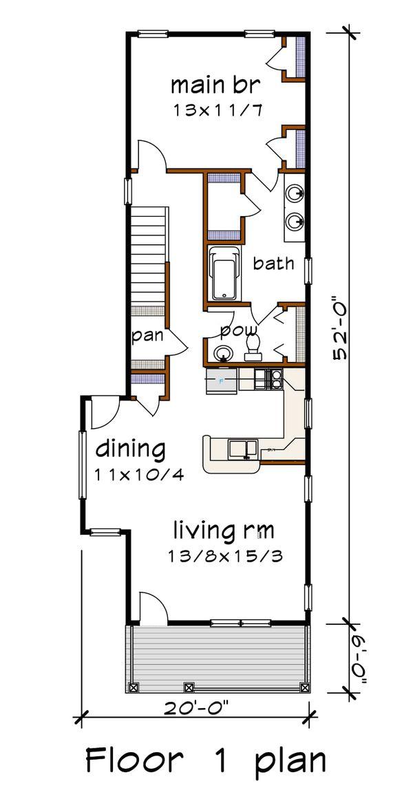 Country Floor Plan - Main Floor Plan Plan #79-203