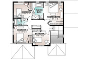 Traditional Style House Plan - 4 Beds 2.5 Baths 2197 Sq/Ft Plan #23-2285 Floor Plan - Upper Floor Plan