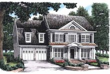 House Plan Design - Colonial Exterior - Front Elevation Plan #927-783