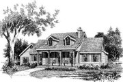 Country Style House Plan - 3 Beds 2 Baths 1579 Sq/Ft Plan #314-164 Exterior - Front Elevation
