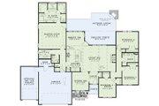 Southern Style House Plan - 4 Beds 2.5 Baths 2346 Sq/Ft Plan #17-2502 Floor Plan - Main Floor Plan