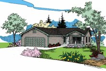 Home Plan - Contemporary Exterior - Front Elevation Plan #60-725
