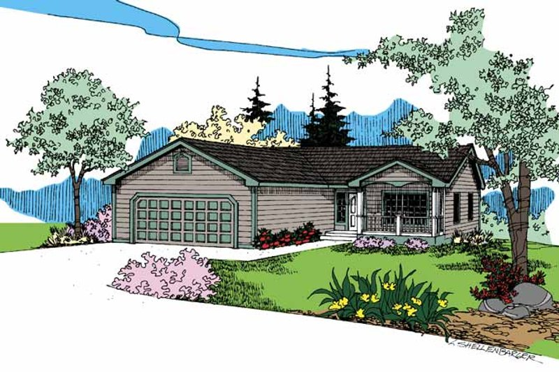 Contemporary Exterior - Front Elevation Plan #60-725 - Houseplans.com