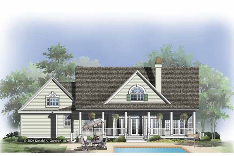 Country Exterior - Rear Elevation Plan #929-808 - Houseplans.com