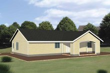 Architectural House Design - Ranch Exterior - Front Elevation Plan #117-814