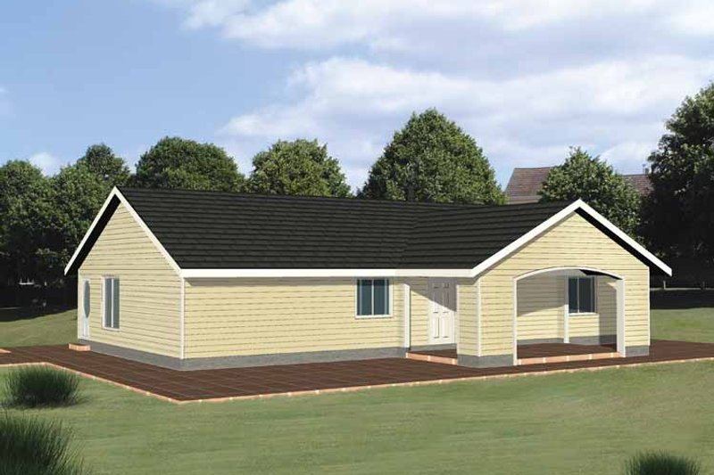 Ranch Exterior - Front Elevation Plan #117-814