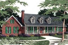 Dream House Plan - Southern Exterior - Front Elevation Plan #406-171