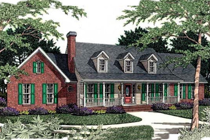 Southern Exterior - Front Elevation Plan #406-171 - Houseplans.com
