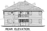 Ranch Style House Plan - 2 Beds 2 Baths 1417 Sq/Ft Plan #18-178 Exterior - Rear Elevation
