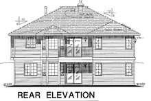 House Blueprint - Ranch Exterior - Rear Elevation Plan #18-178