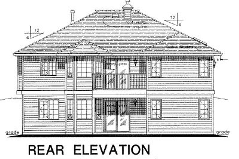 Ranch Exterior - Rear Elevation Plan #18-178 - Houseplans.com