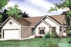 Home Plan - Traditional Exterior - Front Elevation Plan #405-156