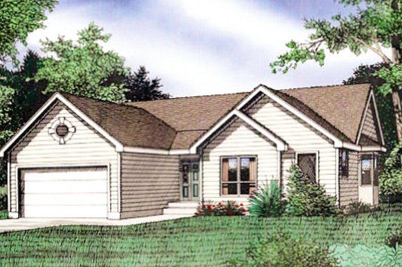 Traditional Exterior - Front Elevation Plan #405-156 - Houseplans.com