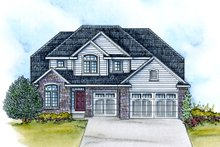 Home Plan - Traditional Exterior - Front Elevation Plan #20-2113