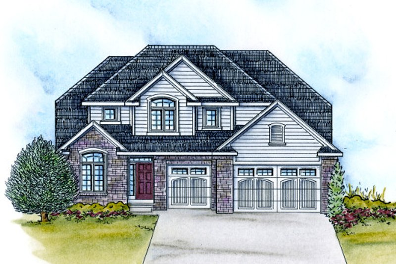 Traditional Exterior - Front Elevation Plan #20-2113 - Houseplans.com