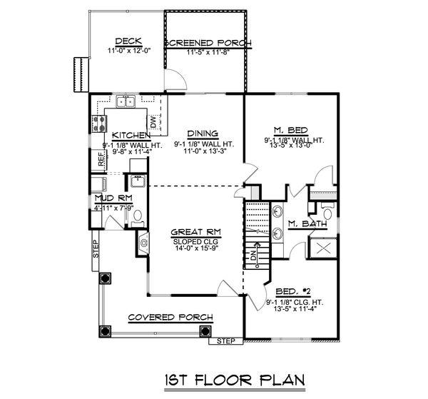 House Plan Design - Craftsman Floor Plan - Main Floor Plan #1064-45